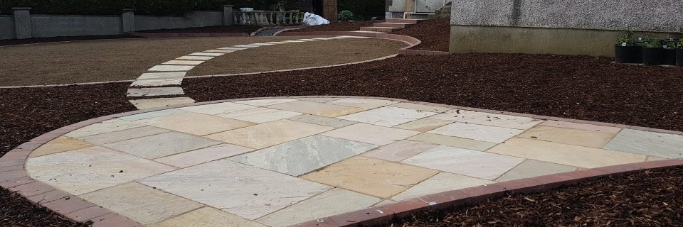 Patios, paving, brick edging and fencing